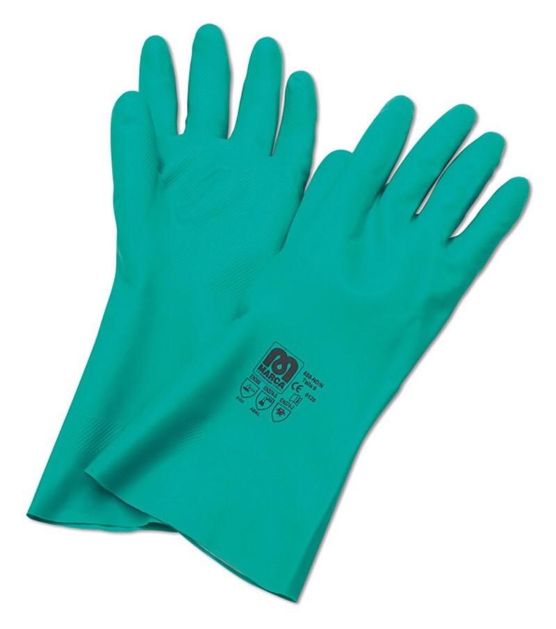 b5dc58365a8 Guante marca nitrilo sin soporte Verde riesgos mecanicos, pescaderias